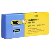 Tacwise 0393 18G/13mm Brad Nails Galvanised (Box of 5000)