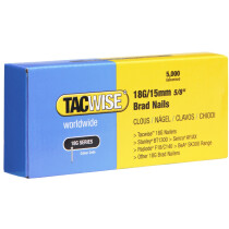 Tacwise 0394 18G/15mm Brad Nails Galvanised (Box of 5000)