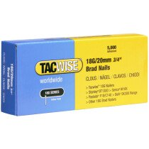 Tacwise 0395 18G/20mm Brad Nails Galvanised (Box of 5000)