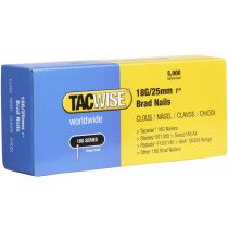 Tacwise 0396 18G/25mm Brad Nails Galvanised (Box of 5000)