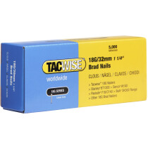Tacwise 0398 18G/32mm Brad Nails Galvanised (Box of 5000)