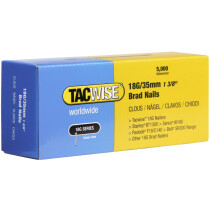 Tacwise 0399 18G/35mm Brad Nails Galvanised (Box of 5000)