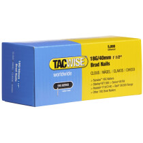 Tacwise 0400 18G/40mm Brad Nails Galvanised (Box of 5000)