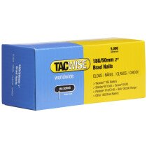 Tacwise 0401 18G/50mm Brad Nails Galvanised (Box of 5000)