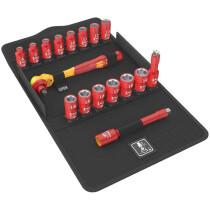 Wera  8100 VDE 1 Zyklop Socket Set 3/8 Drive Metric 17 Piece 05004970001