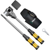 """Wera 8002 C Ratchet Hammer 1/2"""" Drive/341mm Koloss 5 Piece Set 05133862001"""
