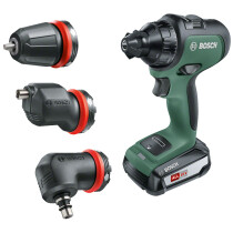 Bosch AdvancedDrill 18 18V Two-speed Drill/Driver 1x2.5Ah and 3 Attachment Set in Carry Case
