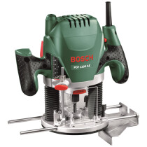 "Bosch POF 1200 AE 1200W 1/4"" & 8mm Plunge Router"