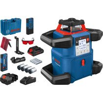 Bosch GRL 600 CHV + LR60,  RB60, RC6, WM6 18v Rotary Level 1x4.0ProCORE in Carry Case