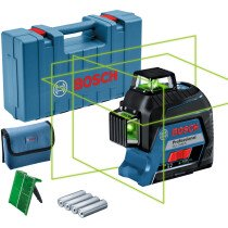 Bosch GLL 3-80 G Green Beam 3 Plane Laser with 80m Range with Receiver Function