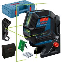 Bosch GCL 2-50 G + RM 10 + Ceiling clip Green Beam Combi Laser 50m with Target plate in Carry Case