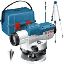 Bosch GOL32D SET Professional Optical Level 32x Magnification with Tripod and Measuring Rod