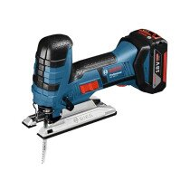 Bosch GST 18 V-LiS 18V Body Grip Jigsaw 2x5.0Ah Batteries in L-Boxx