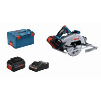 Bosch GKS 18V-68 GC 18v BITURBO BRUSHLESS Guide Rail Compatible Circular Saw 190mm Connection Ready (2x5.5Ah ProCORE18V Batteries) in L-Boxx