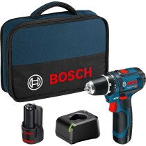 Bosch GSR 12V-15 12V Drill/Driver with 2x 2.0Ah Batteries in Tool Bag