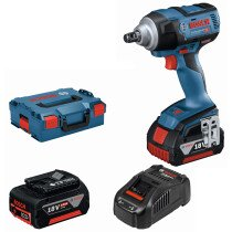 Bosch GDS 18V-300 18v Brushless Impact Wrench (2 x 4.0Ah ProCORE18V Batteries) in L-Boxx