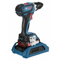 Bosch GSR 18V-60 C 18V Brushless Drill/Driver with 2x 5.0Ah Batteries in L-Boxx - Connection Ready