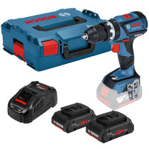 Bosch GSB 18 V-60 C 18v Dynamic Series Brushless Connection ready Two Speed Combi (3x4.0ah ProCORE18V) in L-Boxx