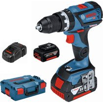 Bosch GSB 18V-60 C5C 18v BRUSHLESS 2 Speed Mid-range Combi Drill 2x5.0Ah Batteries Connection Ready in L-Boxx