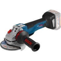 "Bosch GWS 18 V-10 PSC 18V Body Only 5""/125mm Brushless Angle Grinder with Paddle Switch and User Interface in L-Boxx Connected"
