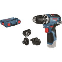 Bosch GSR 12V-35 FC Body Only 12V Brushless Flexiclick Drill/Driver with Accessory Set In L-BOXX