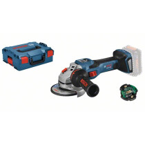 Bosch GWS 18V-15 SC Body Only 18v BiTurbo 125mm Angle Grinder Connection Ready in L-Boxx