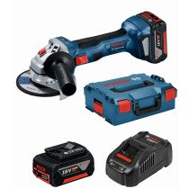 "Bosch GWS 18V- 7 115 CG KIT 18v 4 1/2"" / 115mm BRUSHLESS Angle Grinder (2 x 4Ah) in L-Boxx"