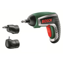 Bosch IXO V UPGRADEF 3.6v Li-Ion New Cordless Screwdriver with Angle & Off-Set Screw Adapter