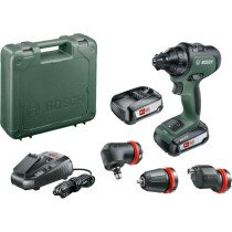 Bosch AdvancedDrill 18 18V Two-speed Drill/Driver 2x2.5Ah and 3 Attachment Set in Carry Case