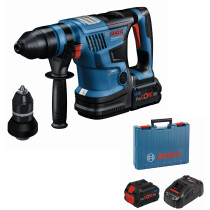 Bosch GBH 18V-34 CF Kit 18v BITURBO BRUSHLESS SDS-Plus Hammer Drill 2 x 8Ah Batteries in Carry Case