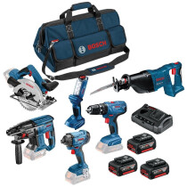 Bosch LBAG62 18V 6pc Kit (3x4.0+GAX 18 V-30;LBAG)