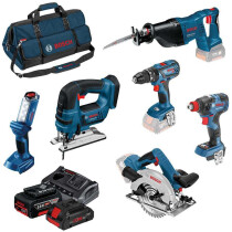 Bosch LBAG61 18V 6pc Kit (3x4.0+GAX 18 V-30;LBAG)