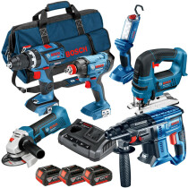 Bosch LBAG63 18V 6pc Kit (3x4.0+GAX 18 V-30;LBAG)