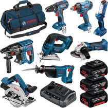 Bosch LBAG8 18V 8pc Kit (3x4.0+GAX 18 V-30;LBAG)