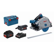 Bosch GKT 18V-52 GC 18v BITURBO BRUSHLESS Guide Rail Compatible Plunge Saw 2 x 8Ah ProCORE18V Connected in L-Boxx