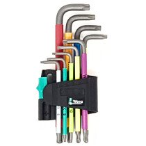 Wera 967 SPKL/9 Ball End Torx Key Set, 9 Piece TX8-TX40