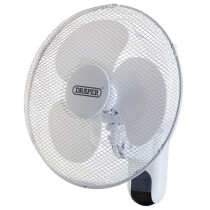 "Draper 09113 FAN7B Wall Mounted Remote Control Fan 16"" (400mm)"