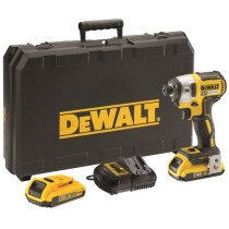 DeWalt DCF887D2-GB 18V Brushless 3 Speed Impact Driver with 2x2.0Ah Batteries in TSTACK Kitbox