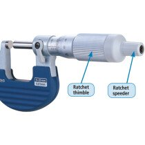 Mitutoyo 102-707 Ratchet-Thimble 'Constant-Force' Micrometers 0-25mm x 0.001mm