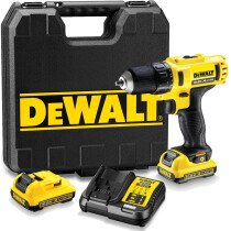DeWalt DCD710D2 12V XR Sub-Compact Drill/Driver with 2x 2Ah Batteries in Kitbox