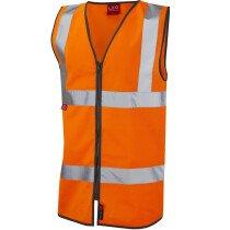 Leo 1120FRZ Flame Retardant Hi-Vis EN533 FR Zipped Vest Waistcoat