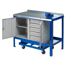 J.A.S. Engineering 1260SFCP Steel Top Mobile Workbench