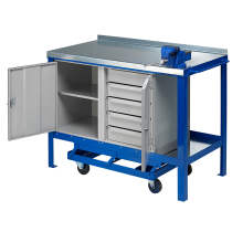 J.A.S. Engineering 1575SFCP Steel Top Mobile Workbench