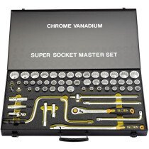 """Elora 770-LSSMF 58 Piece 1/2"""" Square Drive Metric, Whitworth and Imperial Socket Set 15372"""