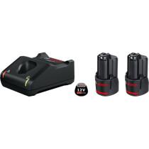 Bosch 2 x 12V GBA 2.0 Coolpack Battery + GAL 12V-40 Charger Starter Set