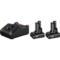 Bosch 2 x 12V GBA 6.0 Coolpack Battery + GAL 12V-40 Quick Charger Set