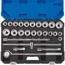 "Draper 16484 T26AMN/B 3/4"" Sq. Dr. Metric/Imperial AF Combined Socket Set (26 Piece)"