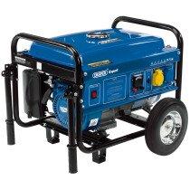 Draper 16066 PG253W 4 Stroke Engine Petrol Generator with Wheels (2.2kVA/2.0kW)