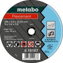 Metabo 616738000 Flexiamant 125x2.5x22.2 stainless steel Diameter x thickness x bore mm: ...