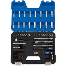 "Draper 16448 B75AMN/SG 1/4"" Drive mm/AF Combined Socket Set 75 Piece"